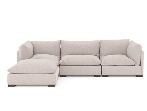 Parker Sectional - Neutral Performance Fabric