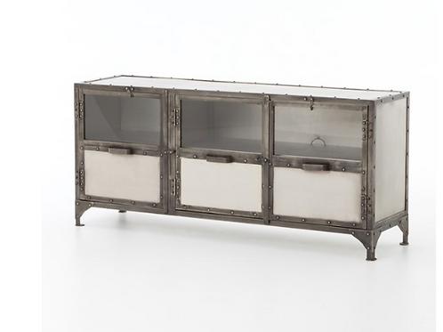 Antiqued Iron Media / Sideboard