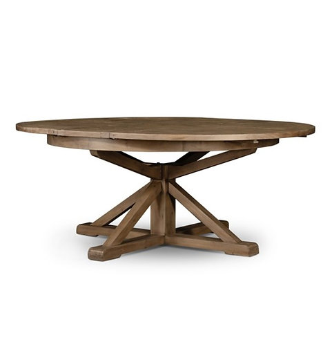 """Lucca Round Extension Table In Natural - 63"""" & 48"""""""