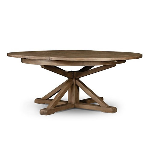 "Lucca Round Extension Table In Natural - 63"" & 48"""