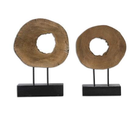 Artifact Wood Sculptures - Set of 2