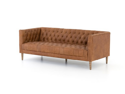 Charles Lane Leather Sofa