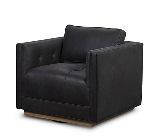 Corgan Leather Swivel Chair