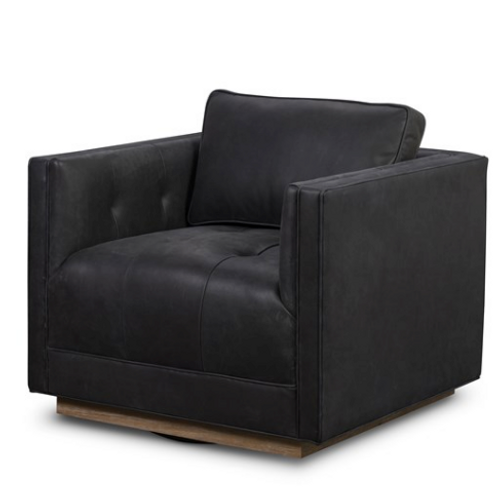 Corgan Leather Swivel Chair