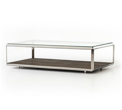 Columbus Shagreen Coffee Table - Stainless