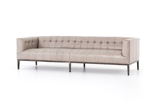 Sullivan Leather Sofa - Stone