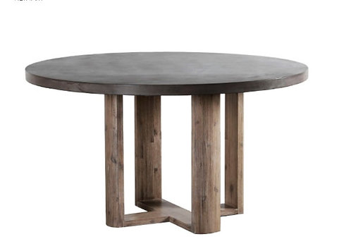 """55"""" Whitney Concrete Top Round Dining Table"""