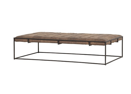 Jackson Coffee Table - Brown Leather