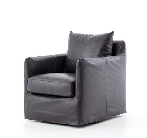 Perry Street Swivel Chair - Black