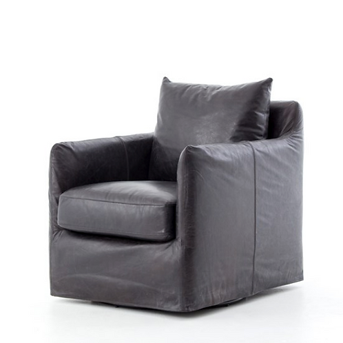 Perry Street Swivel Chair - Black