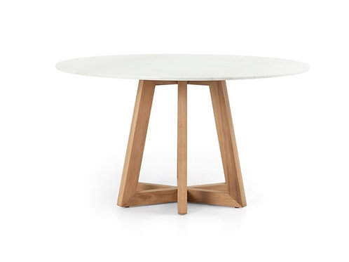 "55"" Atla Marble Top Round Dining Table"