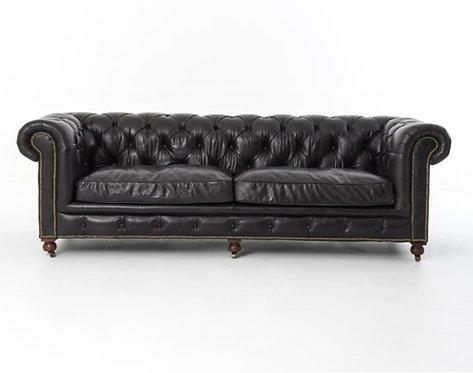 Balvenie Black Leather Sofa