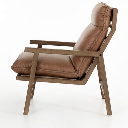 Zermatt Accent Chair - Brown Leather