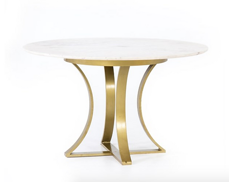 """Astoria Dining Table Marble Top - 60"""" or 48"""""""