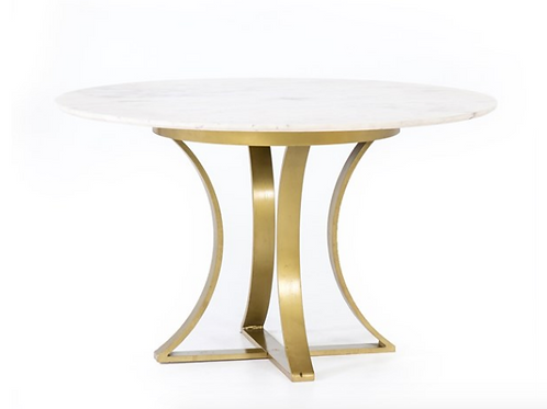"Astoria Dining Table Marble Top - 60"" or 48"""