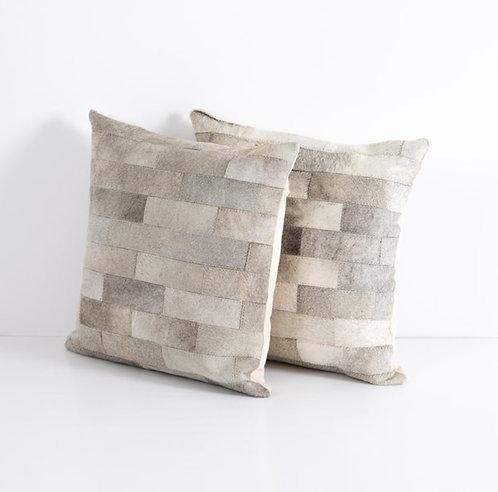 Hide Pillow - Grey Pattern (Set of 2)