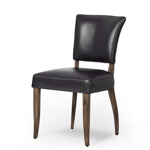 Chadwick Dining Chair - Black Leather