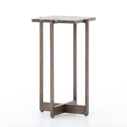 Oxidized Iron Side Table