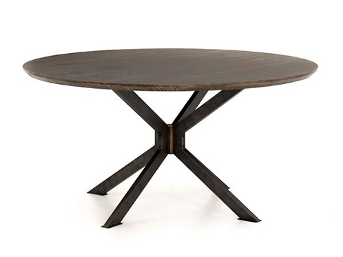 Wood Top Graz Round Dining Table - 60""