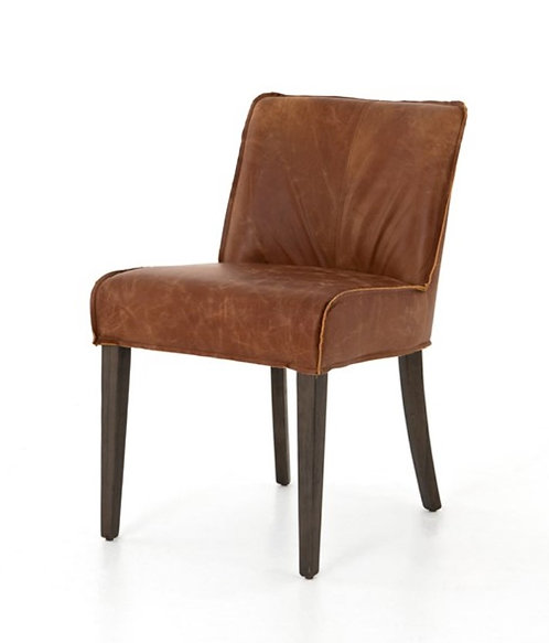 Stellan Dining Chair - Brown Leather