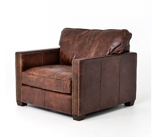 Shaw Club Chair - Vintage Brown