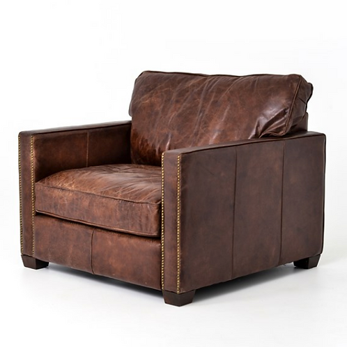 Shaw Club Chair - Vintage Brown