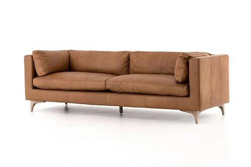Helena Leather Sofa - Brown