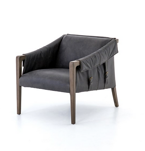 Williamsburg Leather Chair - Black
