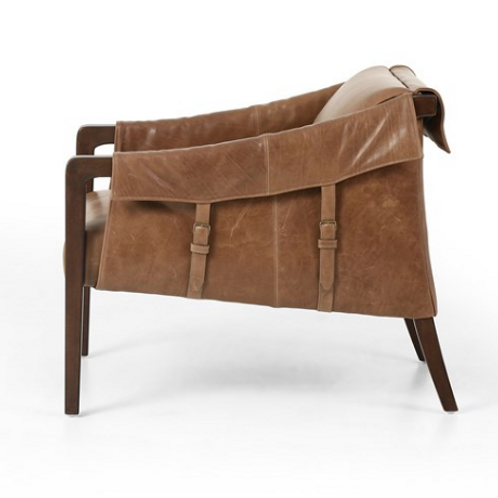 Williamsburg Leather Chair - Brown