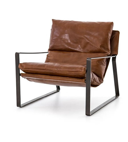Gryff Accent Chair - Vintage Brown Leather