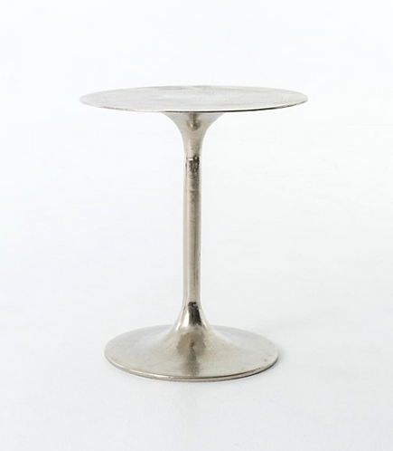 Nickel Tulip Side Table