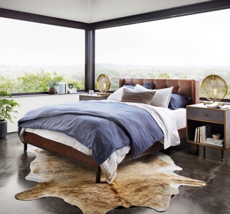Harper Tufted Bed - Brown