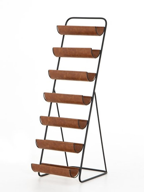 Brown Leather Wine Rack