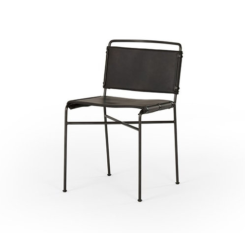 Whitney Dining Chair - Black Leather