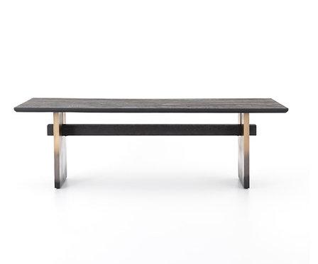 Leonard Dining Table - Black Washed Oak