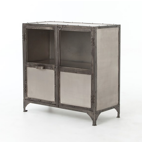 Antiqued Iron Cabinet