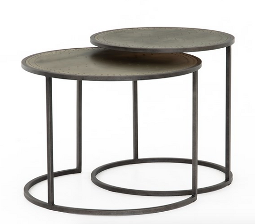 Borough Nesting Tables - Zinc