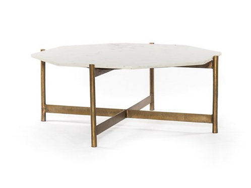 Everly Coffee Table - Raw Brass