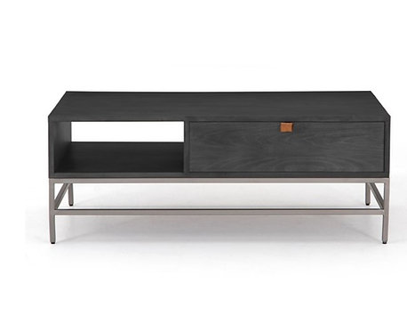 """Banks Coffee Table - 48"""" Black Washed"""