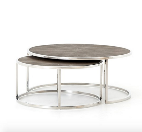 Essex Nesting Coffee Table - Stainless