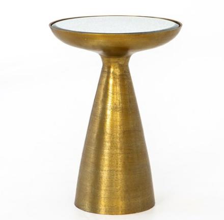 La Topa Side Table - Brushed Brass