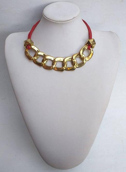 B-7090 Collar cadena, color único