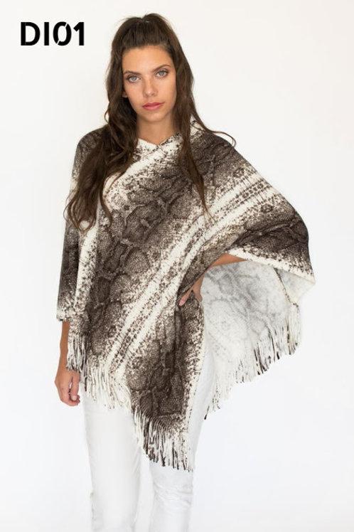 DI 01 - Ponchos de lana, animal print