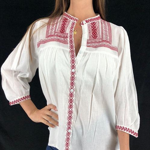 BV15 Blusa de algodón, bordada