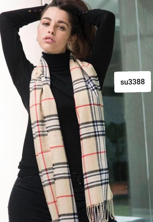 3388 Bufandas de lana, colores variados. UNISEX