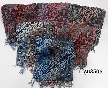 3505 Bufandas de jackard, elastizadas