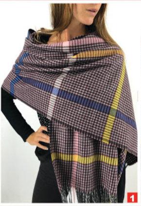 C22 Bufandas de lana, diseños variados a elección.
