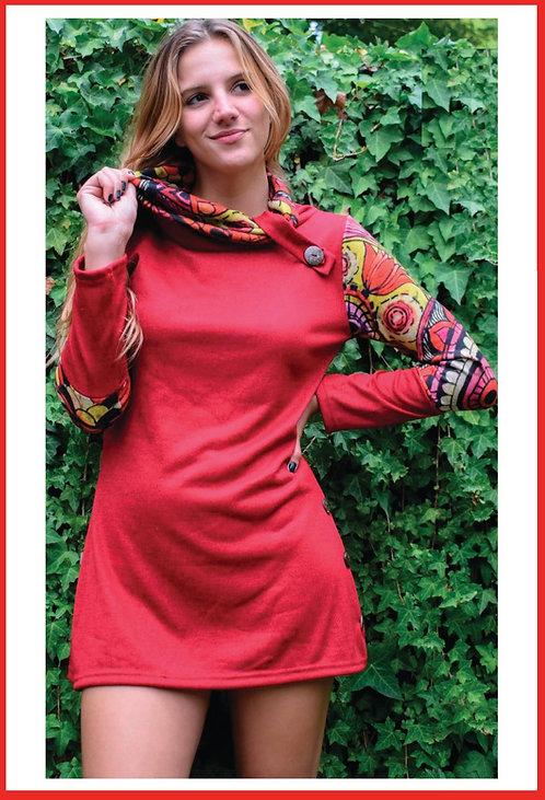 BM13 Vestidos de lanilla, combinados,