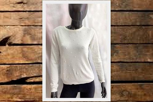 SA4308 Sweater de lana con apliques de perlitas, moda 2020