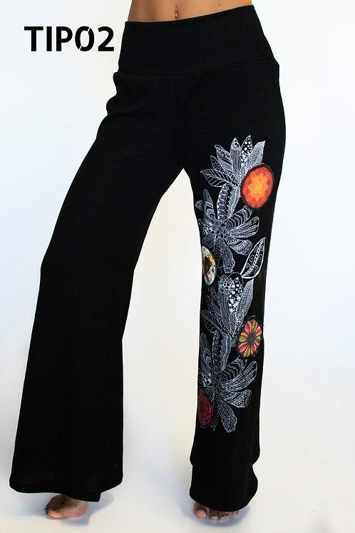 TIP02 Pantalón sublimado. Delicados diseños.
